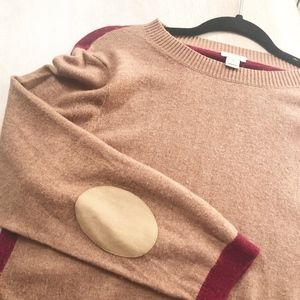 JCrew Colorblock Sweater XL Merino Wool